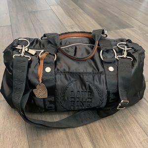 PINK Victoria's Secret Black Duffle Bag